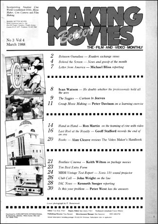 An article about the Royalty cinema in making Better Movies in 1988